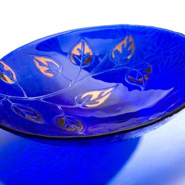 Blue Leaf Daisy Bowl