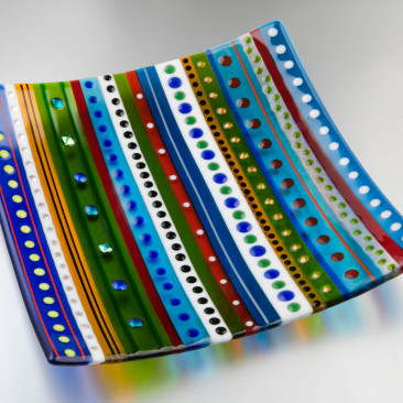 Large Ribbon Stripe Dish