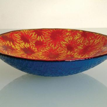 Orange Tropical Daisy Bowl