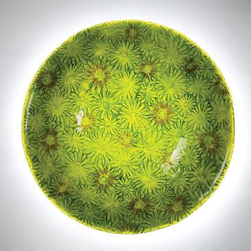 Green Tropical Daisy Bowl